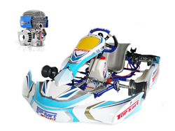 Ensemble Top-Kart Blue Eagle / Minime IAME complet